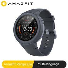 Stokta küresel Amazfit Verge Lite Smartwatch IP68 akıllı saat GPS GLONASS uzun pil ömrü AMOLED ekran Android iOS için