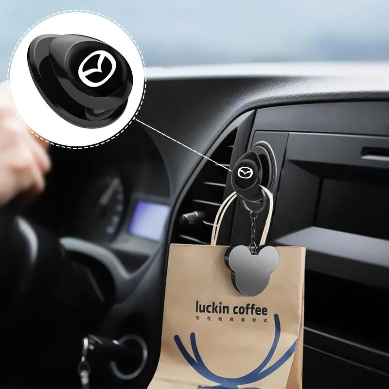 Автомобильный крючки хозяйственная сумка USB кабель для хранения Организатор Ключ вешалка Аксессуары для Mazda 2, 3, 5, 6, 8, CX5 CX-5 CX-7 CX-9 MX-5 ATENZA