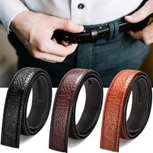 цены High Quality Leather Men Belt Casual Black Brown Male Belt Luxury Design Double-sided Strap Belts For Men Cinturon Buckle Belts