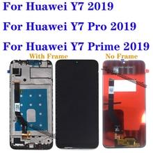 """6.3 """"화웨이 Y7 2019 LCD + 터치 스크린 디지타이저에 대한 원래 디스플레이 화웨이 Y7 프라임 2019 LCD 수리 부품 무료 게시물 교체"""