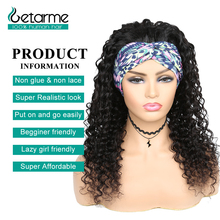 Wig Headband Human-Hair Front-Wigs 1b-Color Women Deep-Wave No-Glueless Natural for Non-Lace