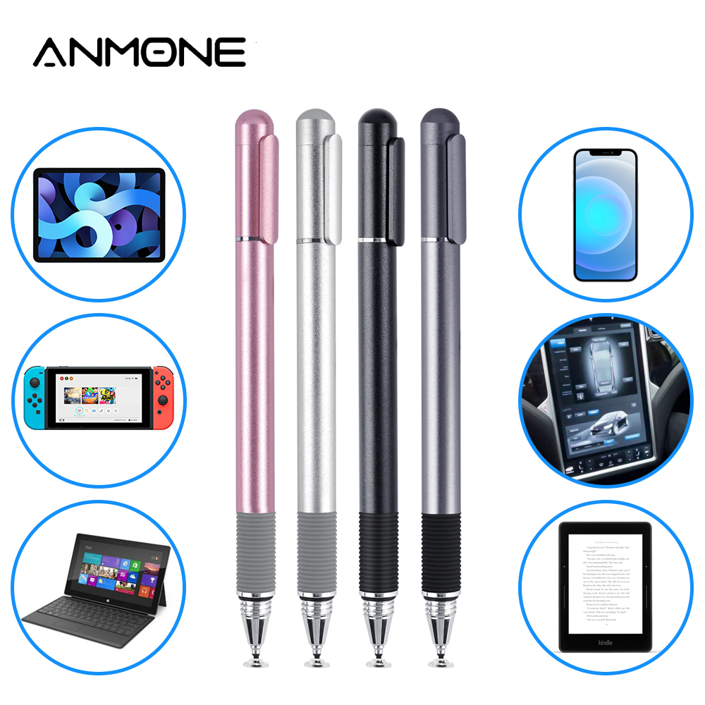 Universal 2 in 1 Stylus Pen Drawing Tablet Pens Capacitive Screen Touch Pen for Android Mobile Phone Smart Pencil Accessories