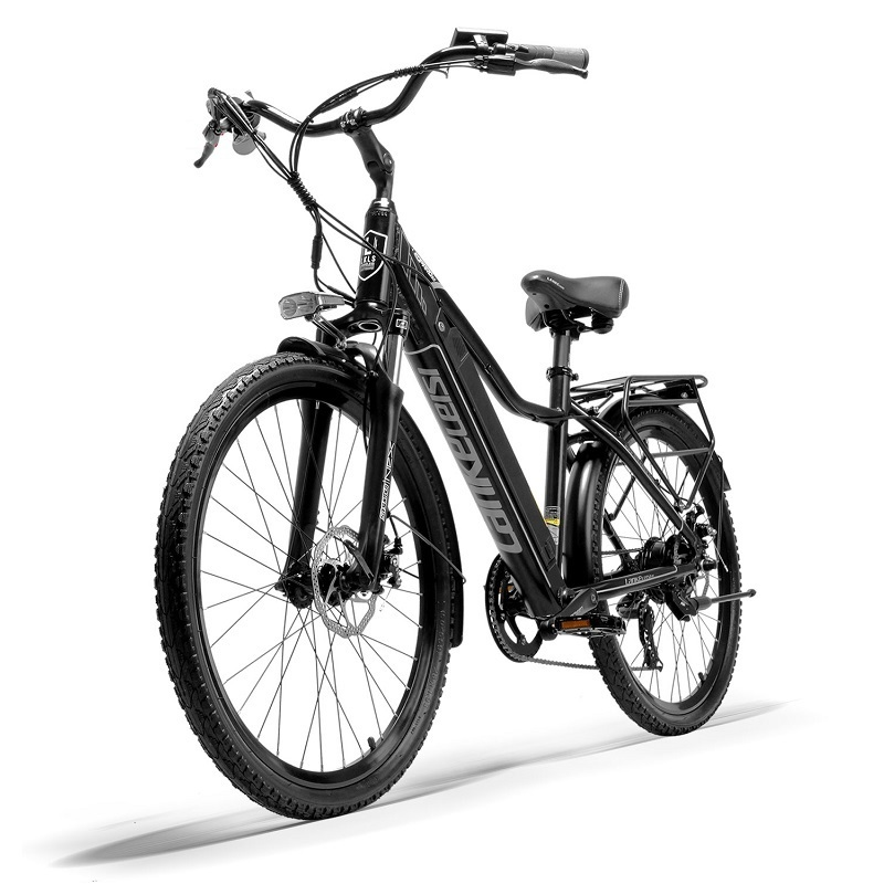 """EU Quality LANKELEISI 26"""" City Bike with PAS Electric Bicycle with 36V 18AH L G Lithium Battery 1"""