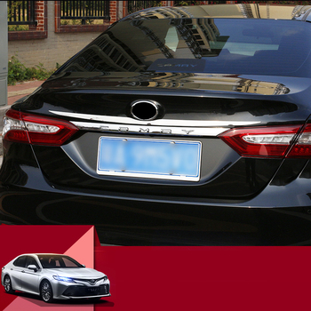 Lsrtw2017 Stainless Steel Car Tail Door Trunk Gate Strip Trims for Toyota Camry XV70 2018 2019 2020 Accessories
