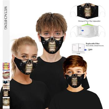 Fashion Reusable Protective PM2.5 Filter anti dust Face mask Print Skull Mouth Mask Windproof Mouth-muffle Bacteria Flu Mask