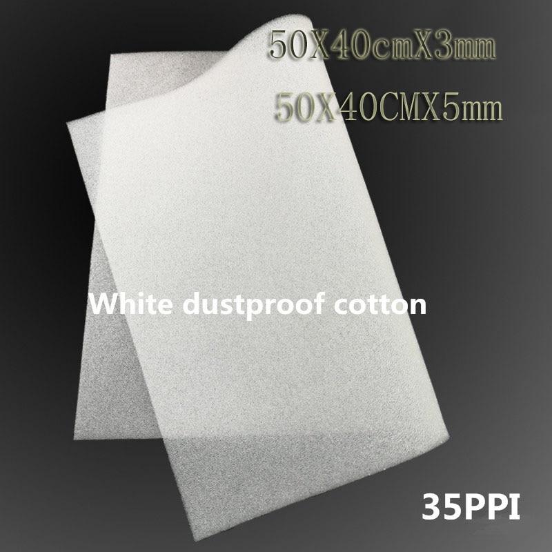 500*400*3/5MM White Computer Case Dustproof Cotton Fan Fan Filter Cabinet Equipment Cooling Dust Sponge 50X40CM