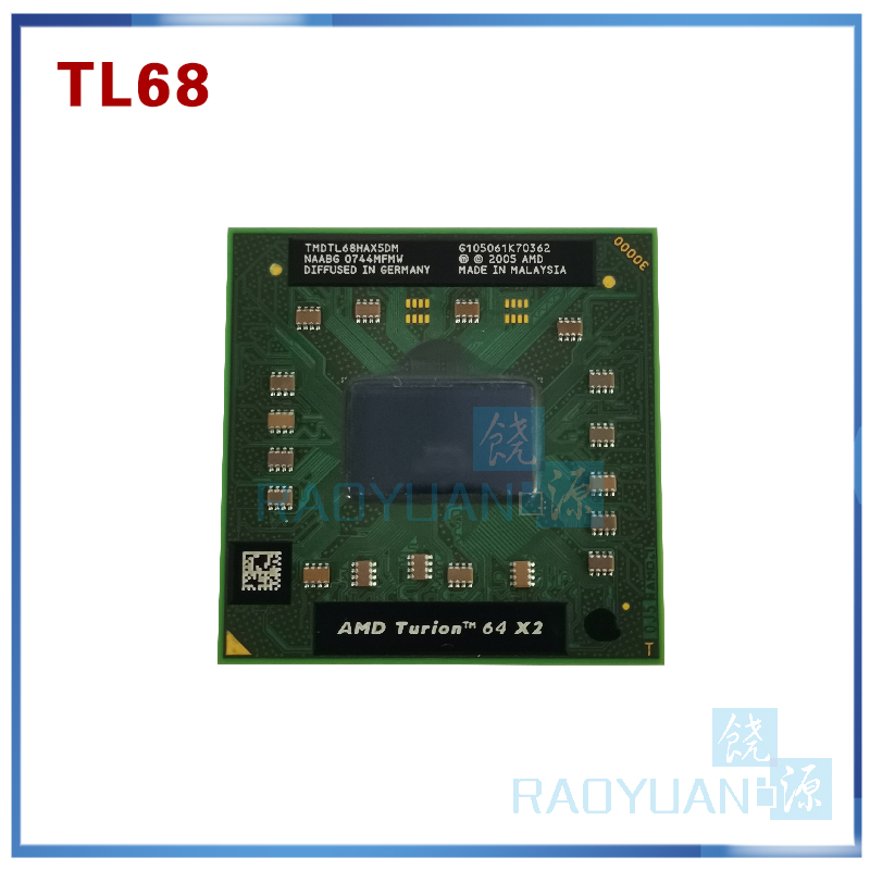 AMD Turion 64 X2 TL68 TL 68 CPU Mobile Dual Core 2.4G 35W  TL 68   TMDTL68HAX5DM Socket S1(S1G1)-in CPUs from Computer & Office    1