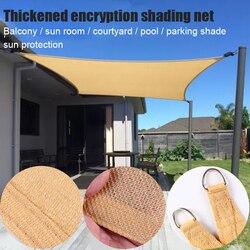 Gorące słońce żagiel przeciwsłoneczny UV bloki piasek prostokąt żagiel przeciwsłoneczny markiza trwała cień pokrywa dla Deck Patio Garden Yard D6