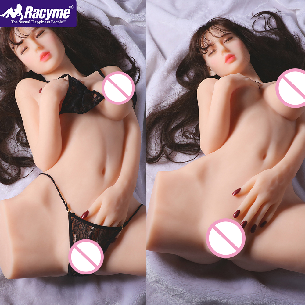 Racyme Moan <font><b>Sex</b></font> <font><b>Dolls</b></font> Real Silicone soft Love <font><b>Doll</b></font> <font><b>78cm</b></font> voice sexy toys for men closed eyes Lifelike Pussy Big Ass Masturbator image