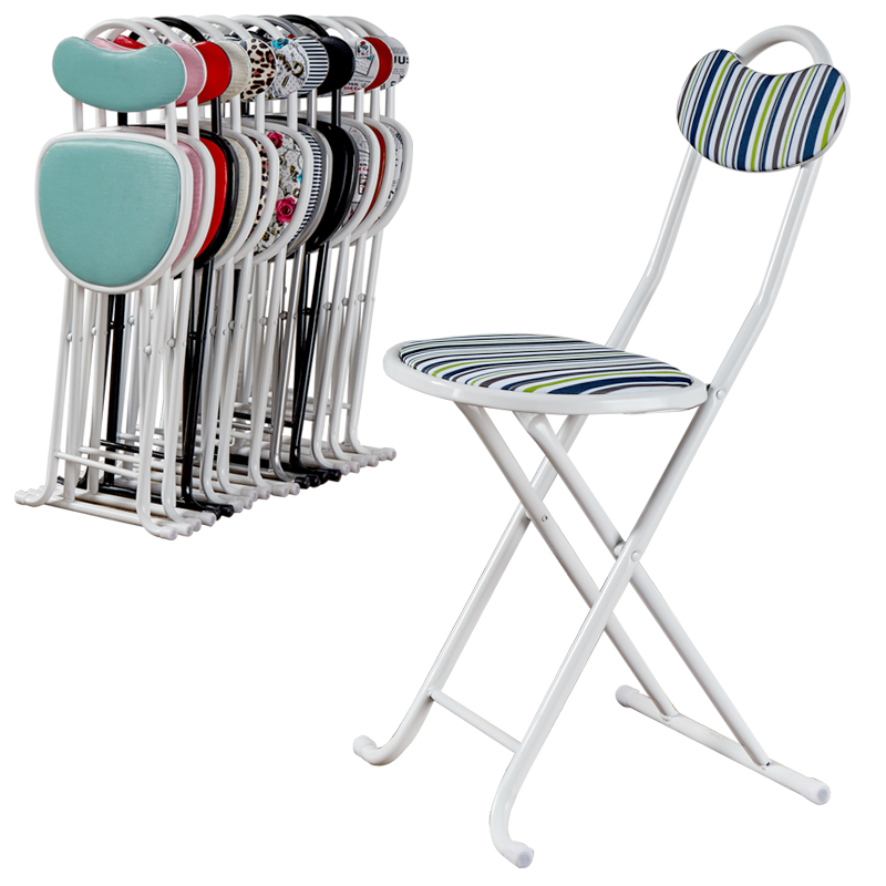 Plastic Blue Stripe Chair New Pink Brief Folding Stool Outdoor Portable  Bar Chairs Stools Bar Stools Modern Iron And PVC Chair