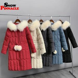 Image 5 -  25 stopni zima kobiety długie kurtki parki Plus rozmiar M 5XL gruby ciepły duża, futrzana kołnierz kobiet Slim sintepon parki znosić płaszcz