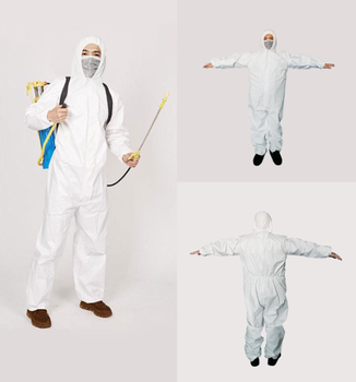 1422a dupont tyvek protective clothing coverall disposable antistatic non linting chemical work clothes anti dust splash Safety Suit One Time Disposable Waterproof Protective Coverall Anti-splash Anti-UV Painting Decorating Clothes Overall Suit