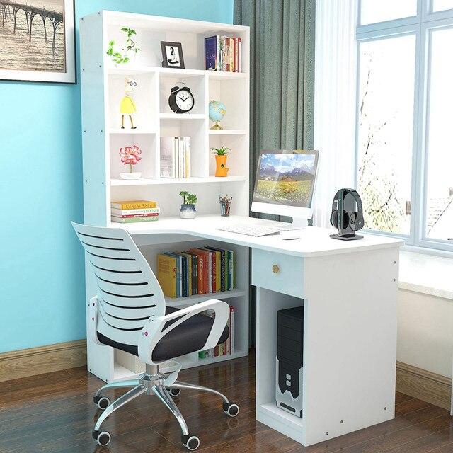 Computer desk desktop desk bookcase combination simple student writing desk study desk bookshelf escritorios de habitación 6* 2