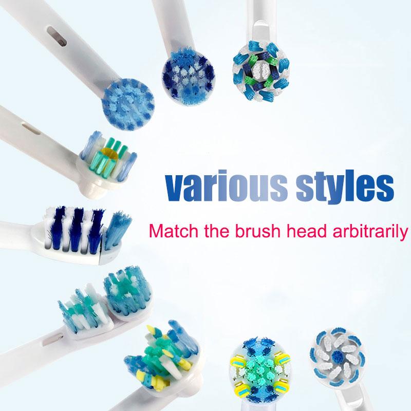 EB50 EB18 EB20Dual têtes de brosse de rechange propres pour Oral B D12 D16 D100 têtes de brosse à dents électriques à Action croisée