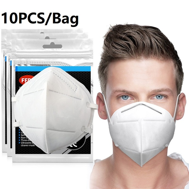 100pcs Mask mouth male and female protective masks dust-proof Mouth Mask Anti-fog Breathable 6 Layers Face Masks 95% Filtration