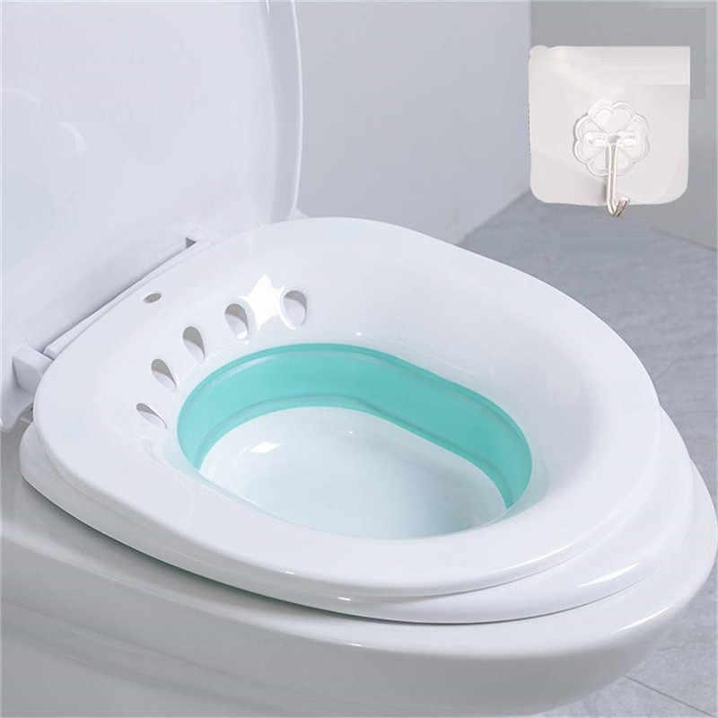 Składany Non-Squat w ciąży hemoroidy ulgę w Bidet po porodzie wanna pasek spłukiwania urządzenie do mycia deska klozetowa dekoracji wc