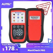 Autel maxicheck pro diagnóstico ferramenta de diagnóstico do carro obd2 scanner epb serviço de óleo abs srs bms escaner automotriz profesional