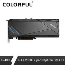 Renkli iGame GeForce RTX 2060 Süper Grafik Kartı Neptün Lite OC GDDR6 8G Nvidia GPU Ekran Kartı RGB 120mm Fan