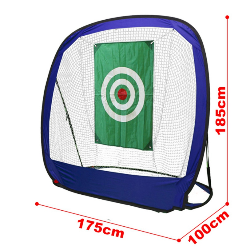 Golf Hitting Cage Foldable Solid Indoor Outdoor Chipping Pitching Cages Portable Golf Practice Training Aids