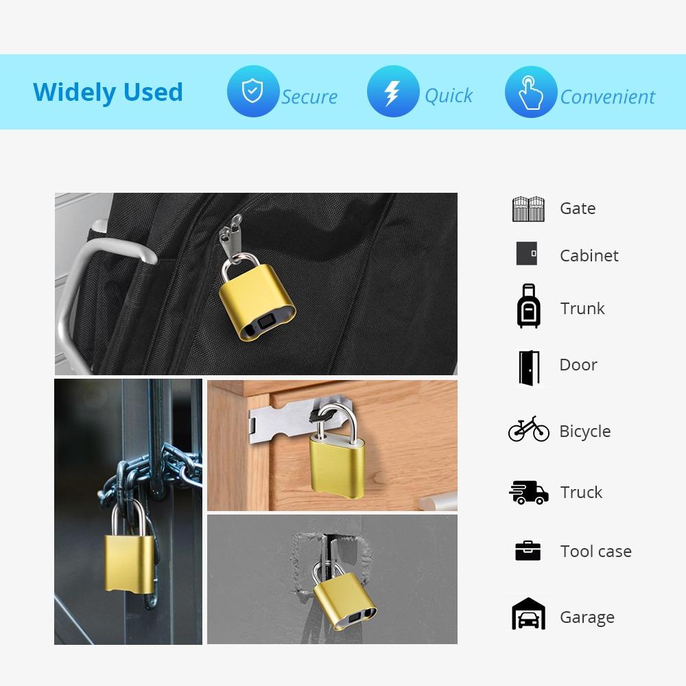 Image 2 - Smart Keyless Bluetooth Fingerprint Lock IP65 Waterproof Cerradura Anti Theft Security Fingerprint Padlock Door Luggage Lock-in Electric Lock from Security & Protection