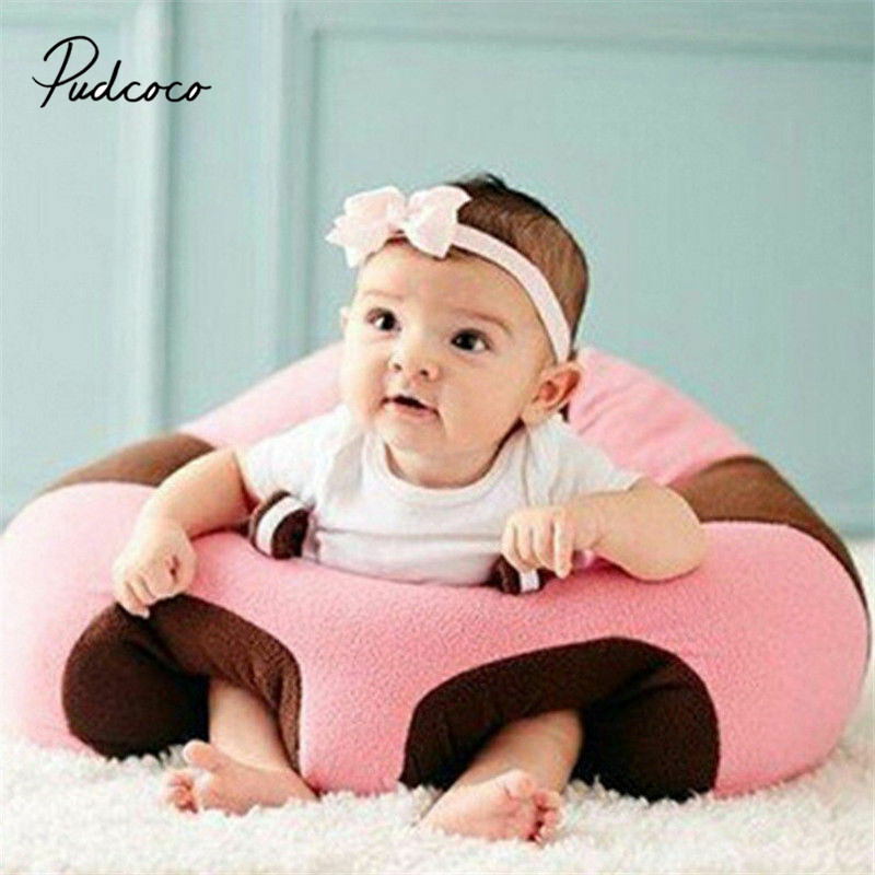 Pudcoco Infant Toddler Kids Baby Support Seat Sit Up Soft Chair Cushion Sofa Plush Pillow Toy Bean Bag Animal Sofa Seat