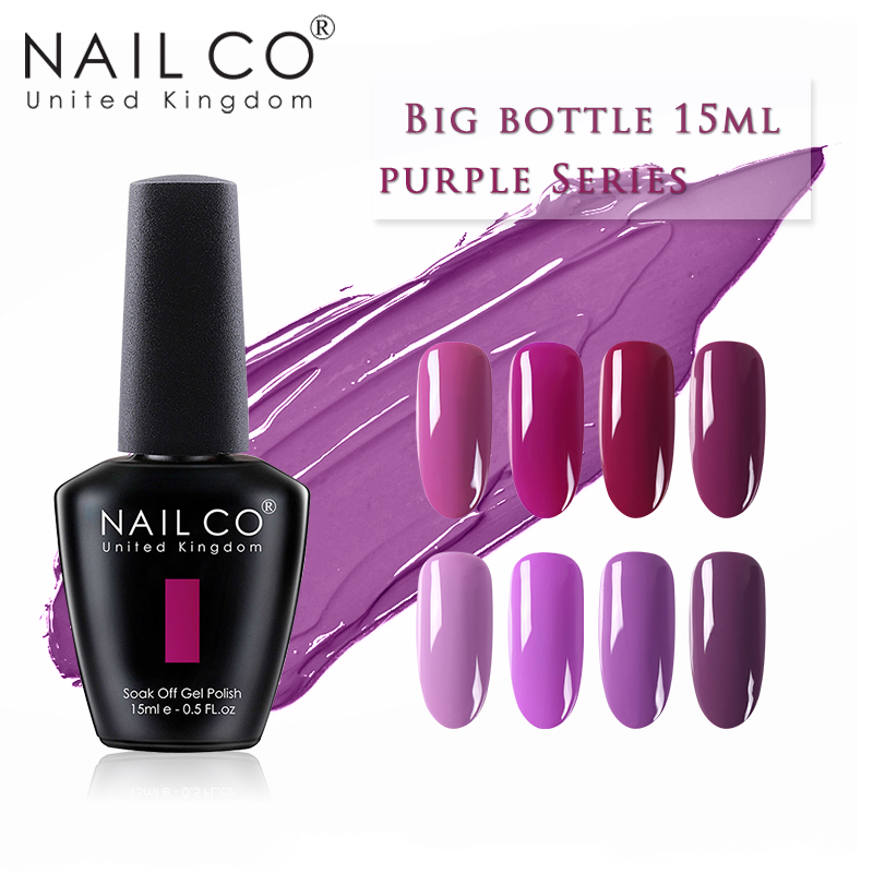 NAILCO New Violet Purple Color Series 15ml Nail Polish Nail Art Set Manicure Hybrid Nails Lak Design Lacquer Gel Varnishes Salon(China)