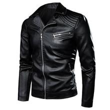 7XL мужская мотоциклетная винтажная куртка в стиле рок-н-ролл, повседневная кожаная куртка, Мужская Осенняя дизайнерская байкерская куртка с заклепками и карманами из искусственной кожи, мужские куртки