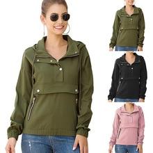 Fashion womens loose sweatshirt top casual jacket shirt autumn winter coat women
