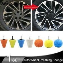 Éponge de polissage pour roue de voiture, outil de polissage, cône de roue de pneu, brosses de nettoyage, tampons de polissage