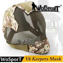 лучшая цена 59cm WoSporT Open Military Tactical Helmet Airsoft Helmet Helmet Helmet Masks Face Masks Full Of Steel Multi Men Mask Universal