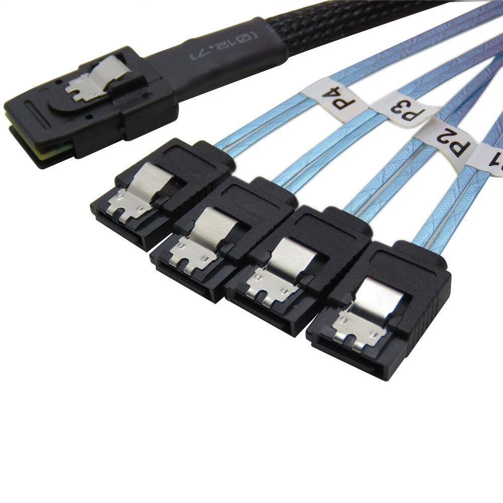 Mini SAS 36P Sff 8087 To Sata 7P Cable Server Cable