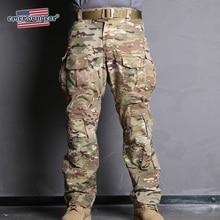 Emersongear Emerson Blue Label G3 камуфляжные военные штаны, военные тактические нейлоновые брюки, мужские тренировочные брюки-карго, w наколенники
