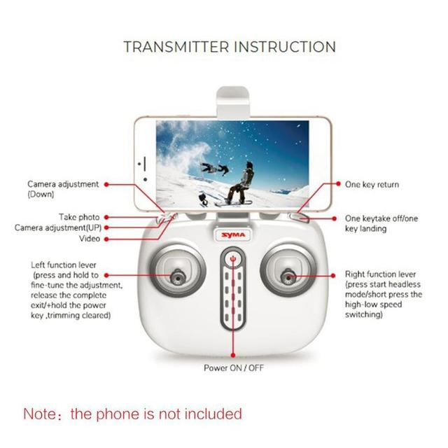 2019 NEW Syma X8 PRO 2.4G GPS Positioning FPV RC Drone with 720P HD Wifi Adjustable Camera Altitude Hold Headless Quadcopter 5