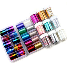 2021 The New Rose Gold Nail Foils Sticker sparkly Sky Glitter Nail Art Transfer Nail Sticker Paper DIY Tips Decoration