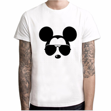 T-shirt men's plus size Harajuku T-shirt fun Mickey oversized street top
