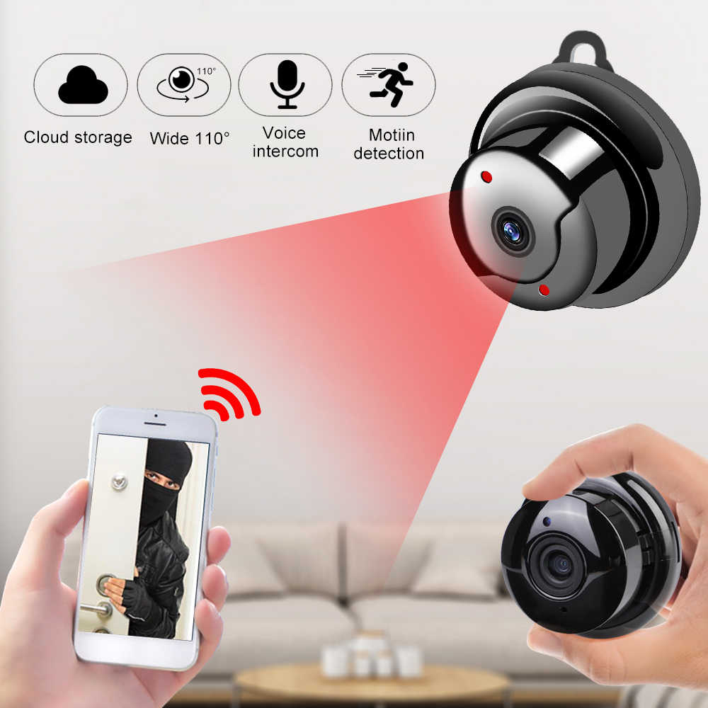 Home Security Mini Wifi 1080P Ip Camera Draadloze Kleine Cctv Infrarood Night Vision Bewegingsdetectie Sd-kaartsleuf Audio app