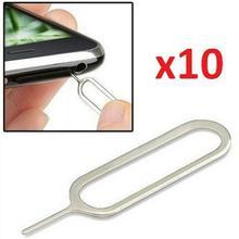 Горячая 10 шт Универсальный Металлический Лоток Для sim-карты контактный Эжектор для удаления загадки для телефона планшета