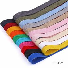 DIY New colourful 10mm chevron cotton Polyester ribbon webbing herring bonebinding tape lace trimming for packing accessories 3M