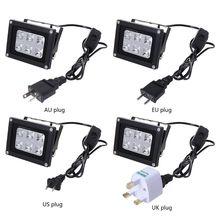 100-260V 60W 395nm 6 UV LED resina Luz de curado para SLA DLP 3D Kit de impresora