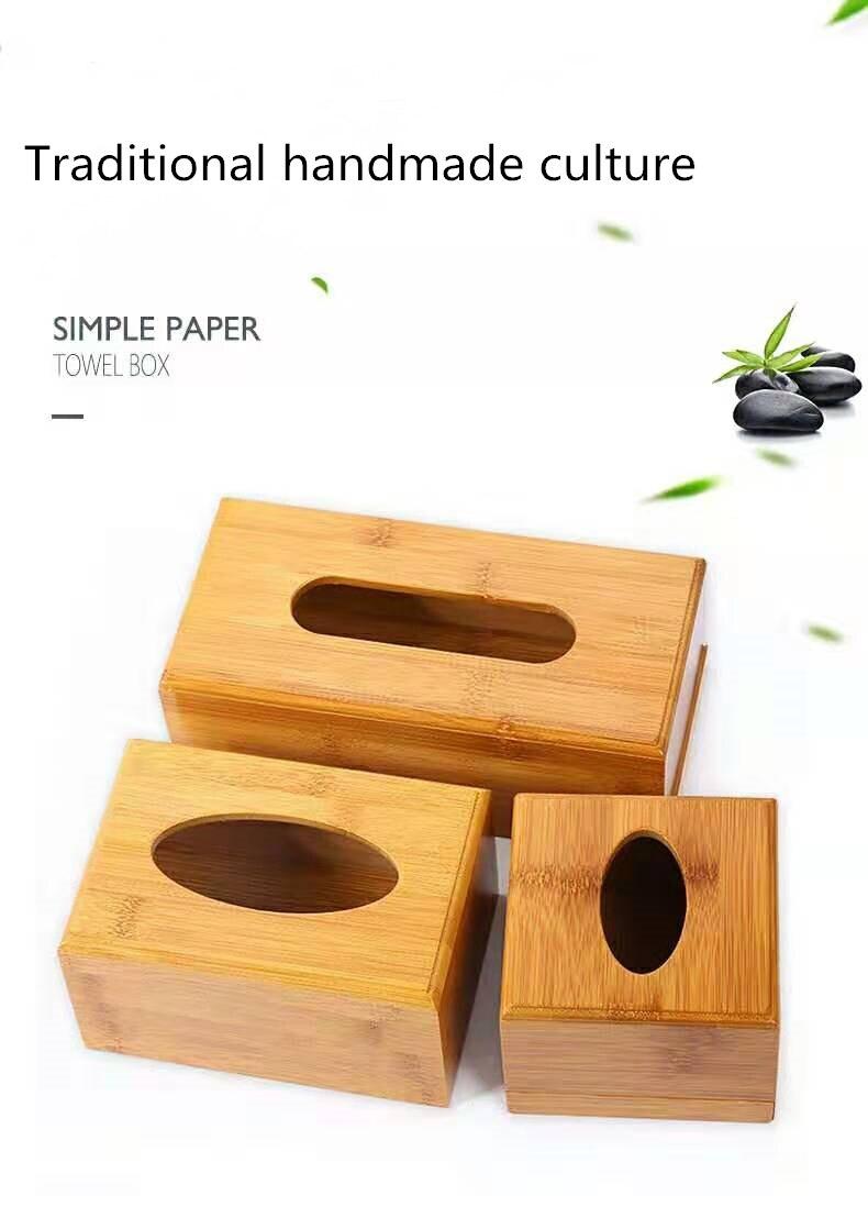 Винтажная бамбуковая коробка для салфеток с древесным углем, креативная коробка для хранения бумажных салфеток в рулоне, органайзер для салфеток в ванной комнате