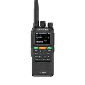 "Image 1 - 2pcs Zastone 889G נייד שתי בדרך רדיו 5 10 ק""מ UHF/VHF 10W 999CH 3000mAh ווקי טוקי חם CB רדיו משדר HF"