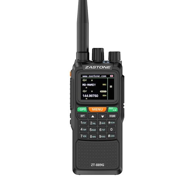"2pcs Zastone 889G נייד שתי בדרך רדיו 5 10 ק""מ UHF/VHF 10W 999CH 3000mAh ווקי טוקי חם CB רדיו משדר HF"