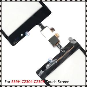 "Image 5 - באיכות גבוהה 5.0 ""עבור Sony Xperia C S39H C2304 C2305 מגע מסך Digitizer חזית זכוכית עדשת חיישן פנל"