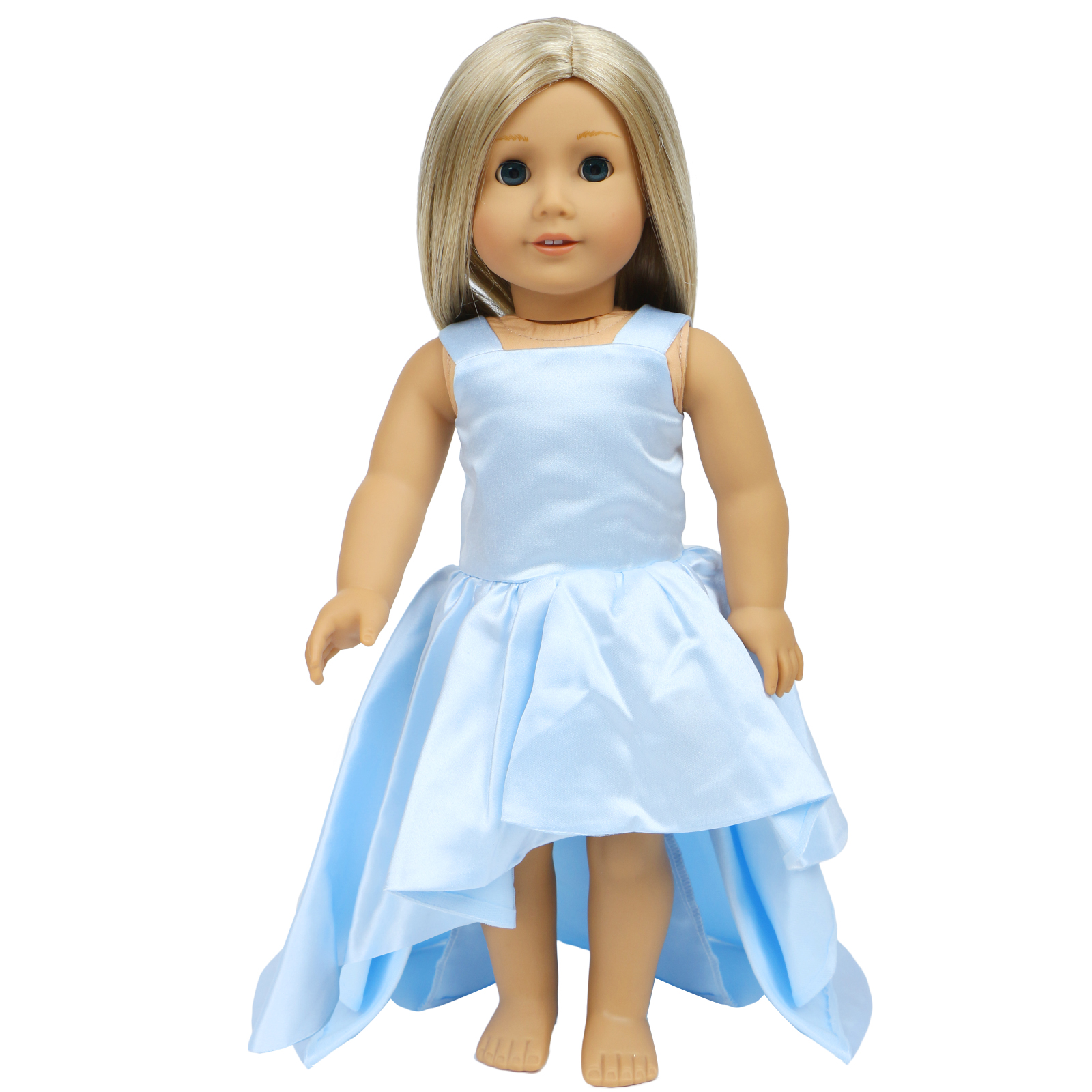 Dress Along Dolly Pink Dress 4 Pieces Fits American Girl Dolls and Other 18 Dolls
