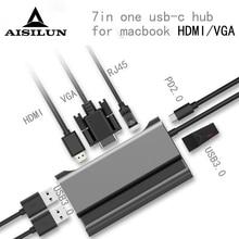 Usb-Hub Docking-Station Macbook Lenovo Laptop HDMI Dell-Surface VGA PD RJ45 for Pro Samsung/dock