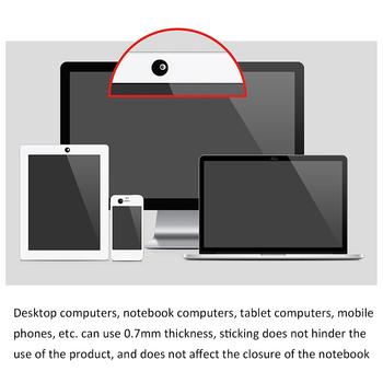 3 szt Osłona kamery internetowej do telefonów komórkowych telefonów z systemem Android telefonów i tabletów Apple naklejki ochronny zabezpieczający prywatność aparatu tanie i dobre opinie centechia CN (pochodzenie) Kamera Plastic Black White 13mm * 13mm dropshipping whosale