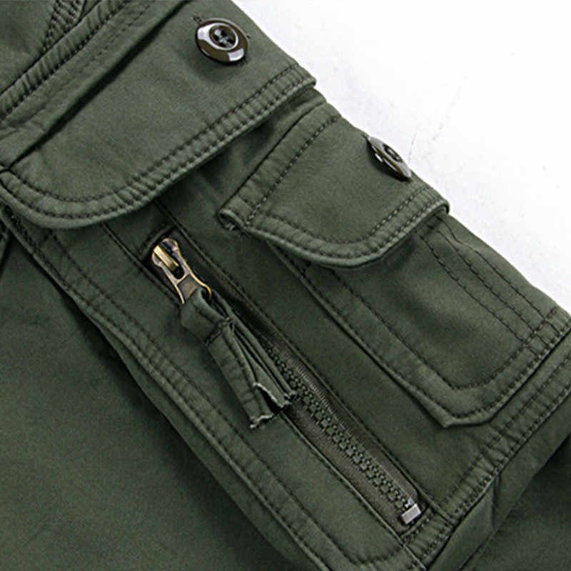 Mens Winter Broek Dikke Warme Cargo Broek Toevallige Fleece Zakken Bont Broek Plus Size 38 40 Fashion Loose Baggy Joger werknemer Mannelijke
