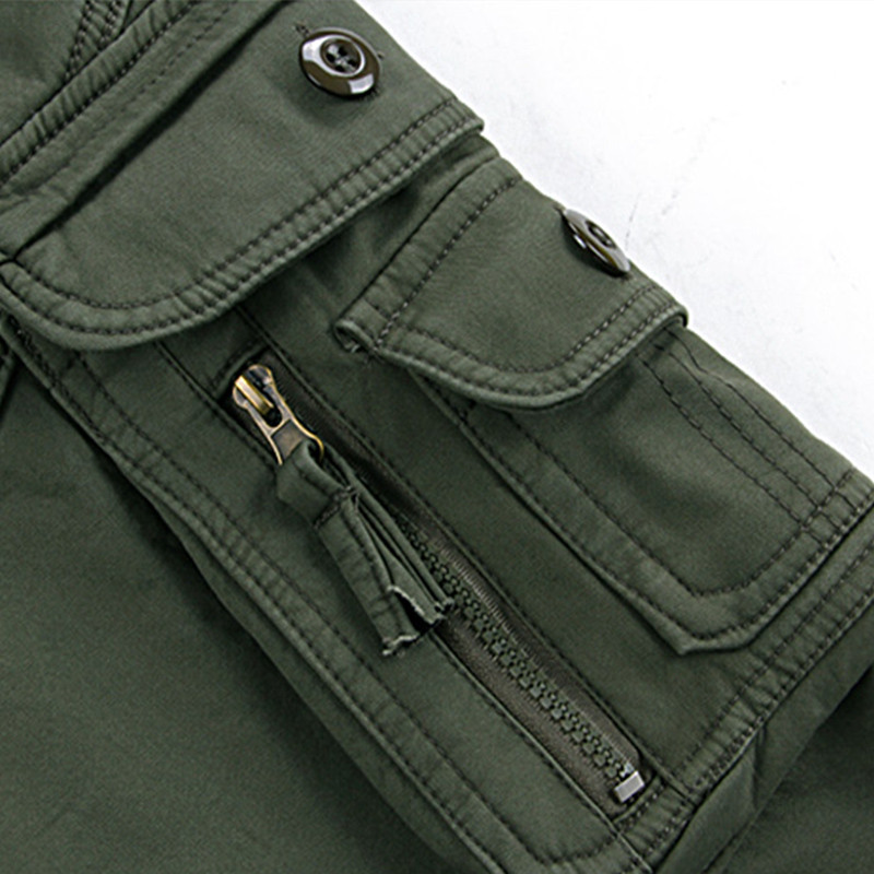 Mens Winter Pants Thick Warm Cargo Pants Casual Fleece Pockets Fur Trouser Plus Size 38 40 Fashion Loose Baggy Joger Worker Male 4