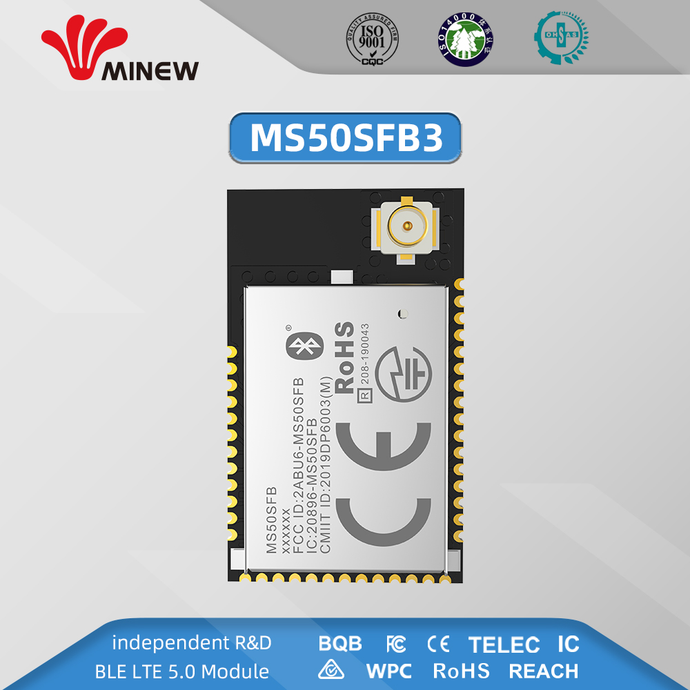 BQB FCC CE Certified NRF52811 Wireless Bluetooth 5.0 Module With Full GPIO With Ultra-low Power Consumption And Optional Antenna