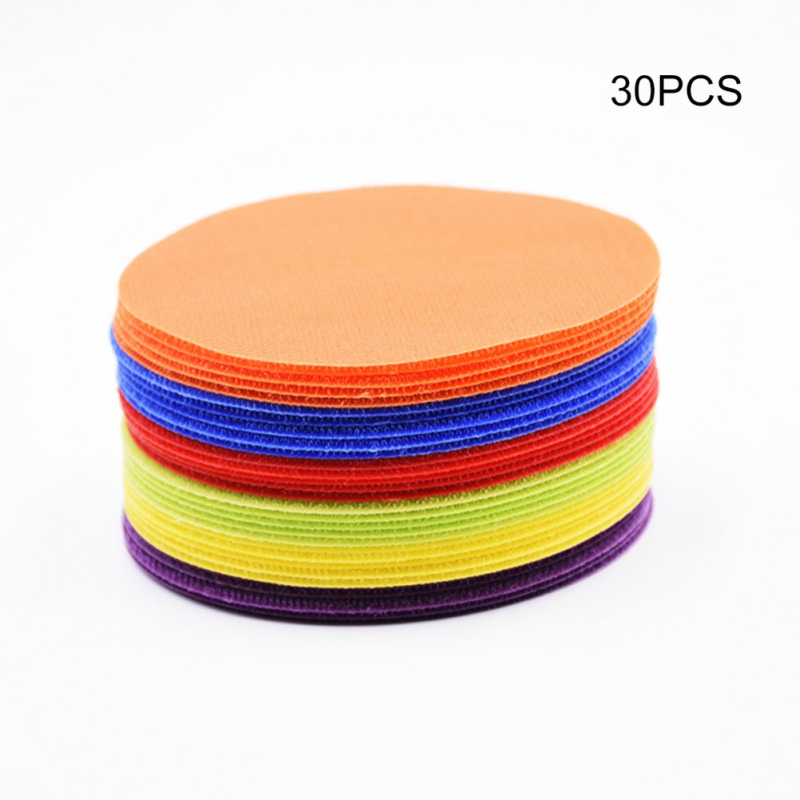 24PCS/30PCS 6 Colors Classroom Magic Mark Sitting Carpet Spots For Educate Round Carpet Signs Stickers For Baby Room Decoration